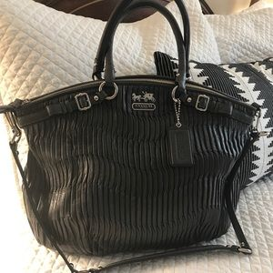 Coach Gathered Leather Lindsey - NWOT